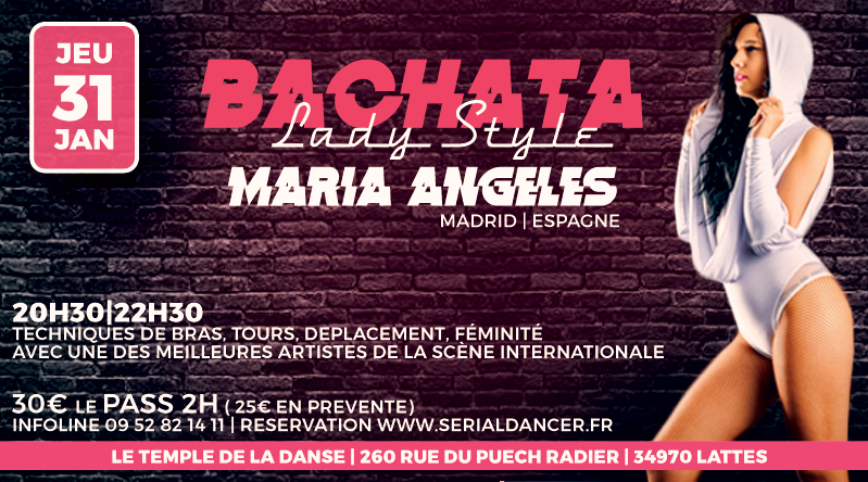 Jeu31jan- Stage Lady Bachata – M.Angeles