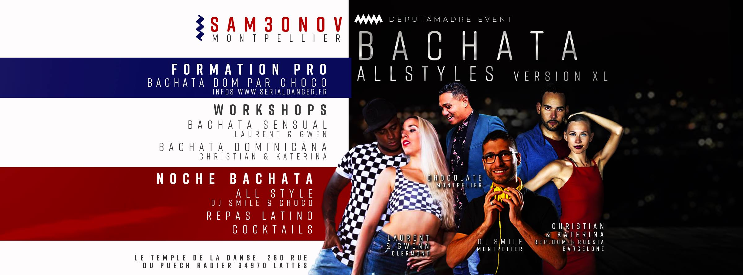Bachata All Style XXL – Stages & Soiree – 30NOV